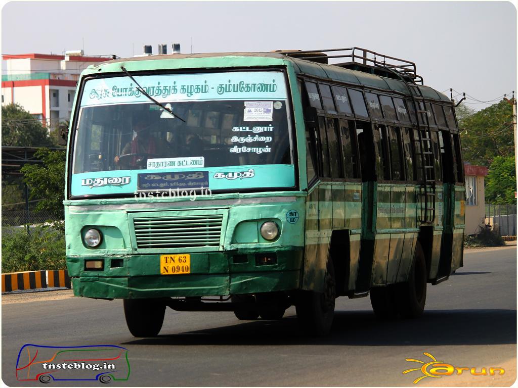 TN-63N-0940 of Madurai Depot Route Madurai - Kamudhi via Thiruppuvanam, Kattanoor, Irunjirai, Narikkudi, Veeracholan.