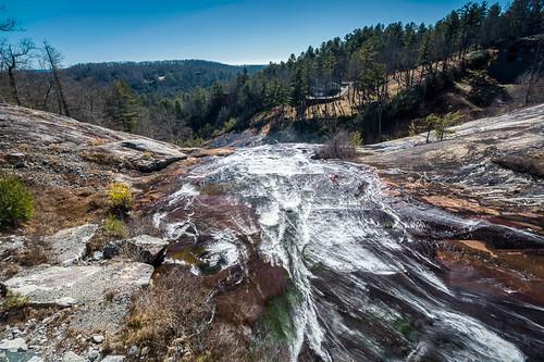nature water landscape waterfall unitedstates january northcarolina falls 2015 laketoxaway toxawayfalls toxawayriver
