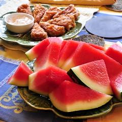 Watermelon and Deep-Fried Tofu