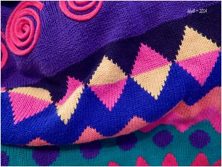 Colorful Sweater ~ Geometric Designs ~ Painterly / Artsy