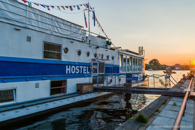 Nuestro hostel sobre el río Spree