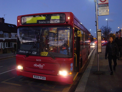 Abellio London 8439 on Route 528, West Middlesex Hosptial