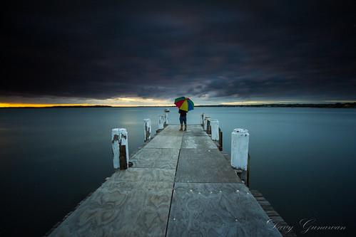 morning rain saint club clouds sunrise george sailing jetty sydney australia nsw selfie weatherman