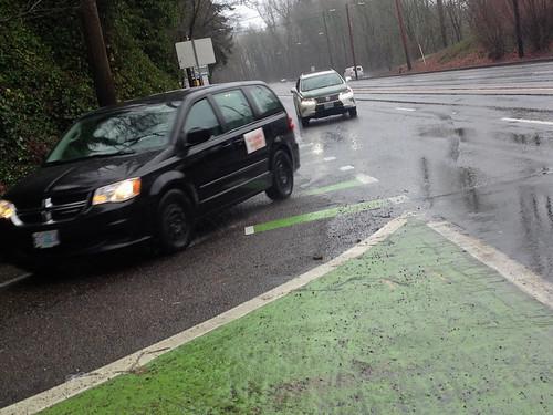 Barbur green bike lane