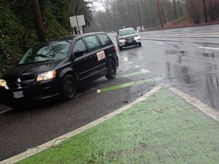 Barbur green bike lane