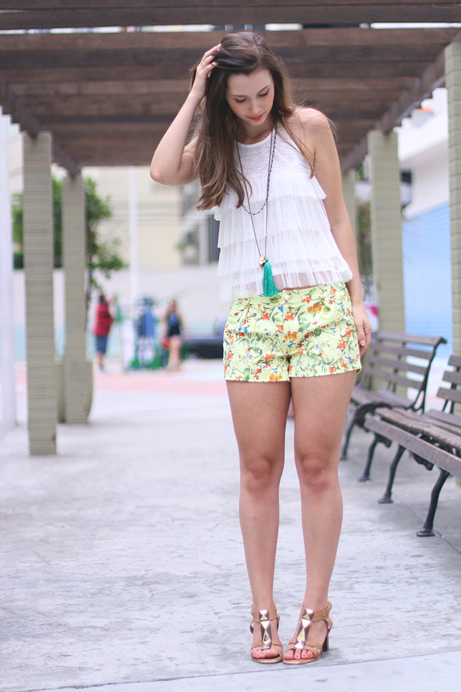 02-look do dia shorts estampado la mandinne blog sempre glamour