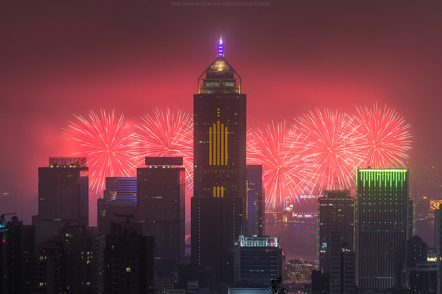 CoolBieRe   - HKG chinese newyear fireworks 2015