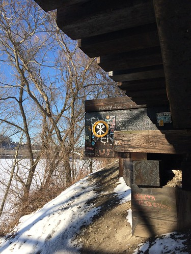 Under the railroad trestles - Feb. 20th 2015