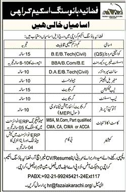 Fazia Housing Scheme Karachi Jobs