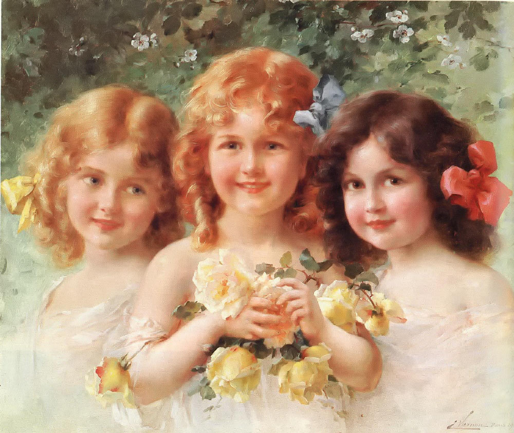 Three Sisters by Emile Vernon - 1912