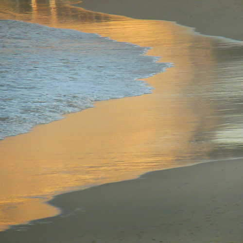 abstract reflection glow shoreline