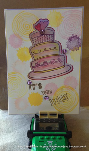 Spitter Spatter Birthday card for a girl