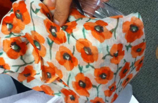 J.Crew Factory poppy scarf