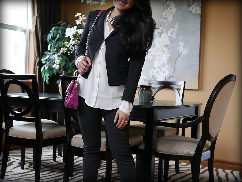 mango top - theory jacket - narciso rodriguez kohls leggings - zac posen shoulder bag3