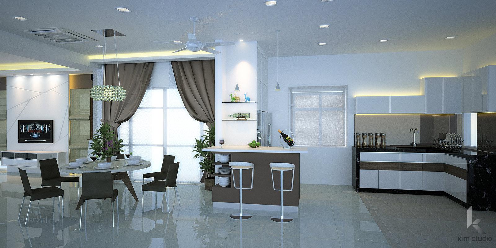 Kim Studio: Semi-Detached House, Areca Residence, Kepong Kuala Lumpur
