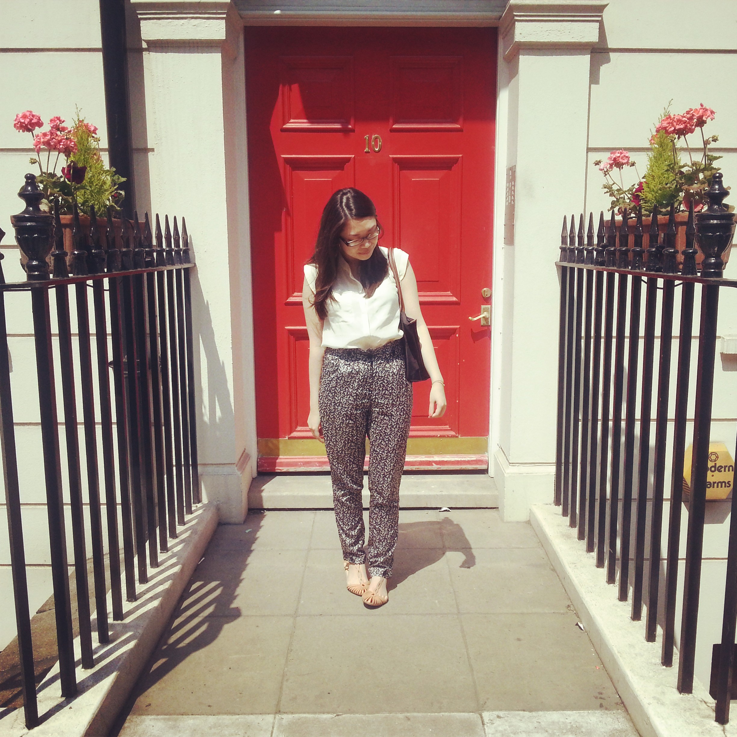 Daisybutter - UK Style and Fashion Blog: what i wore, sacoor brothers, printed trousers, zara
