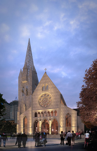 Christchurch Cathedral option 2 exterior dusk
