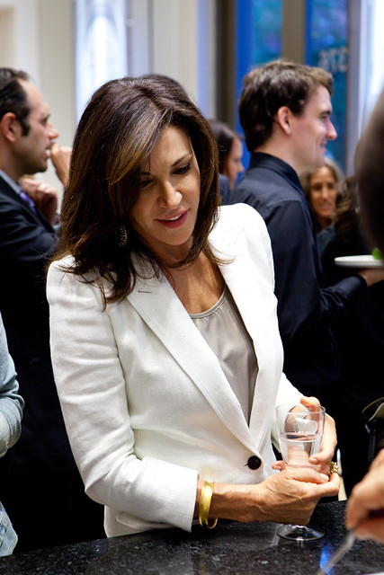 Hilary farr admiring the detailed plating by chef eric tro flickr