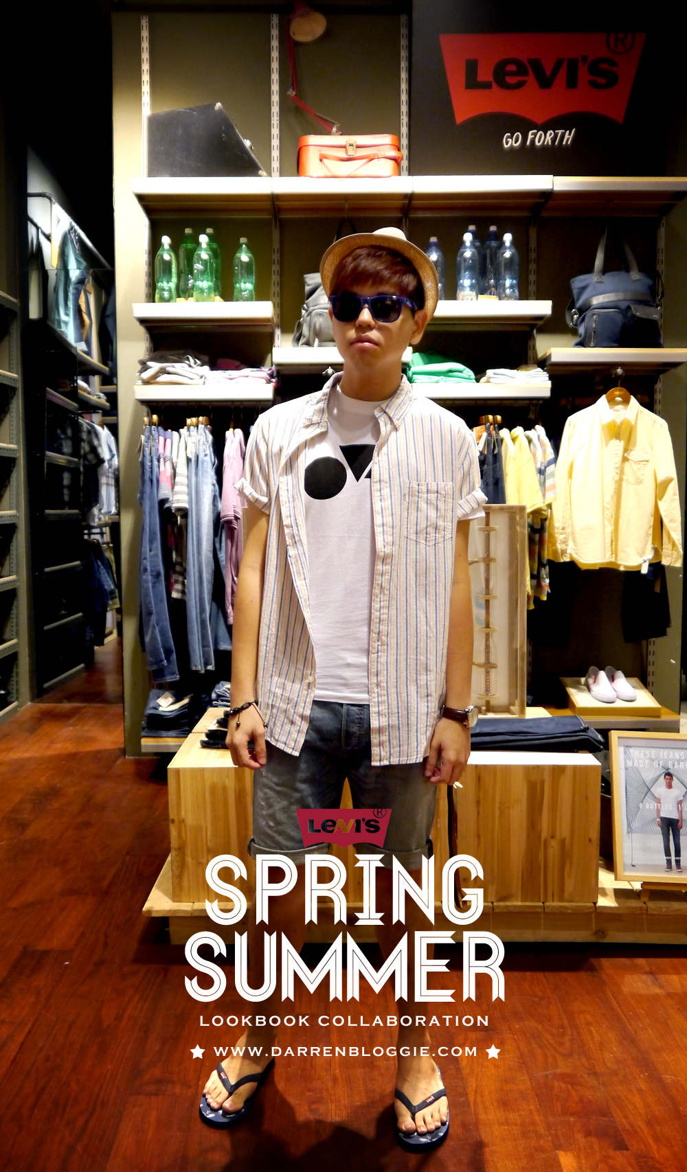 Darren Bloggie X LEVI'S Spring/Summer Lookbook Collaboration