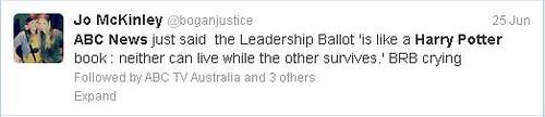 ABC said Leadership Ballot is like Harry Potter