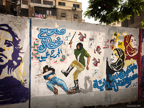 woman graffiti women downtown expression may egypt drawings cairo egyptian violence tahrir 2013