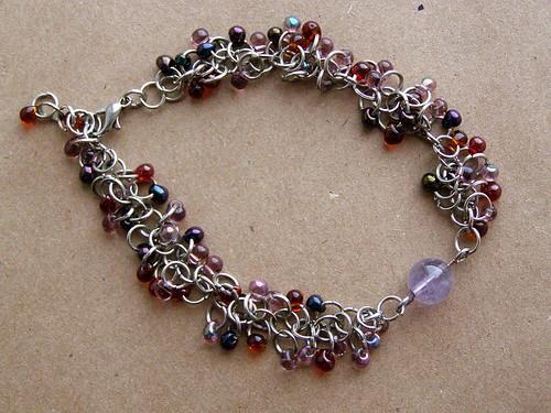 Bracelet - Grape Vine. With Amethyst.