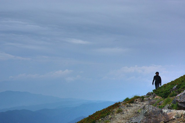 仙丈ヶ岳山頂への道