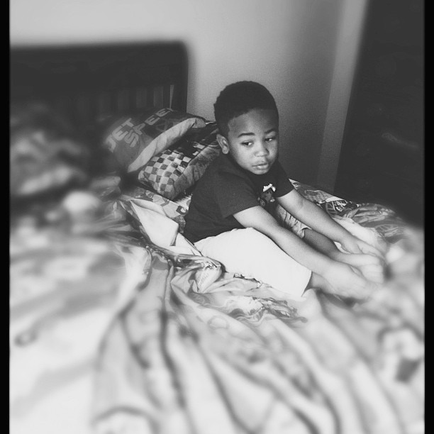 Trying to reason his way out of a nap. As usual...#vscocam