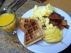 Orange and yellow breakfast