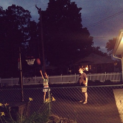 Late night bball with dad.