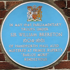 Photo of William Brereton blue plaque