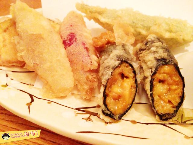 Tempura Tsunahachi - Shinjuku - Takashimaya - uni tempura