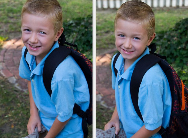 First Day of First Grade Collage