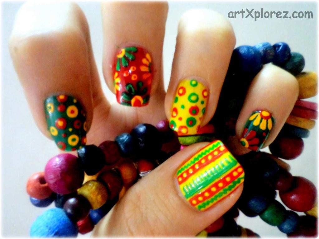 Abstract Design Nail Art 2 Art Xplorez Flickr