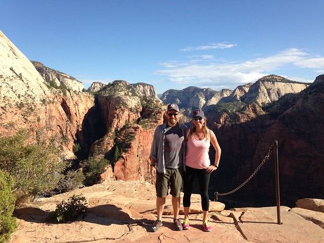 Heading up to Angels Landing