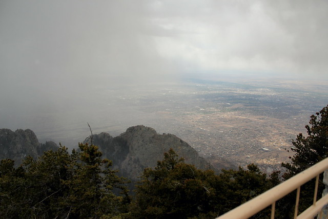 hiking sandia crest with cam