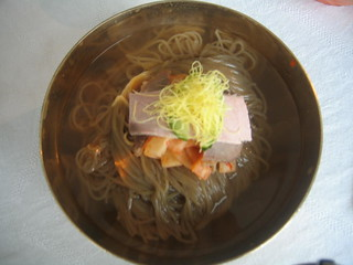 Cold Noodles at Famous Okryu Restaurant