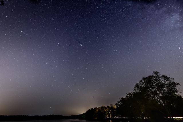 Iridium Flare on night of Draconids