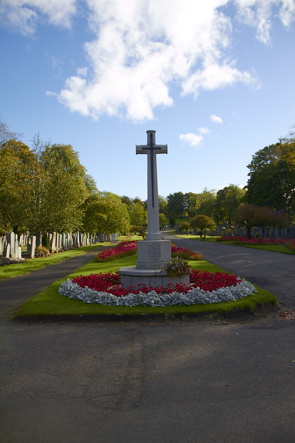 """Hawkhead Cemetery Cross of Sacrifice """"Their Name Liveth For Evermore"""""""