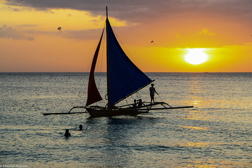 sunset boat philippines boracay malay westernvisayas