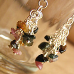 Earrings with tourmaline. Shards of summer.