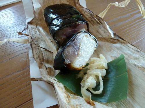 鮨 青木 炙りサバ棒寿司