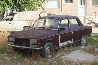 Abandoned Peugeot 304 saloon 1969-79