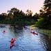 Kayaking through the Toronto Islands, Toronto, Canada