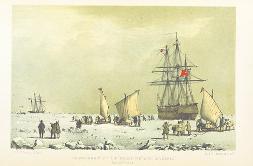 """Image taken from page 464 of 'The eventful voyage of H.M. Discovery Ship """"Resolute"""" to the Arctic Regions in search of Sir J. Franklin. ... To which is added an account of her being fallen in with by an American Whaler after her abandonment ... and of her"""