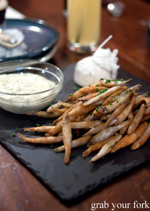 Whitebait with tartare