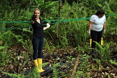 Film maker and nature activist Alexandra Costeau in Ecuadorian jungle. Foto: ANDES (CC BY-SA 2.0)