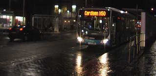 X50 bus preparing to depart Aberystwyth