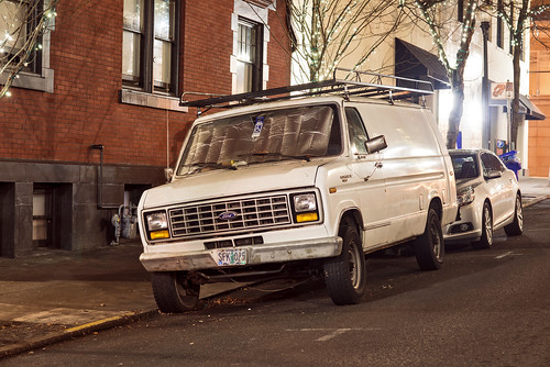White Ford Van by Curtis Gregory Perry