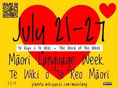 2014 Maori Language Week, July 21-27